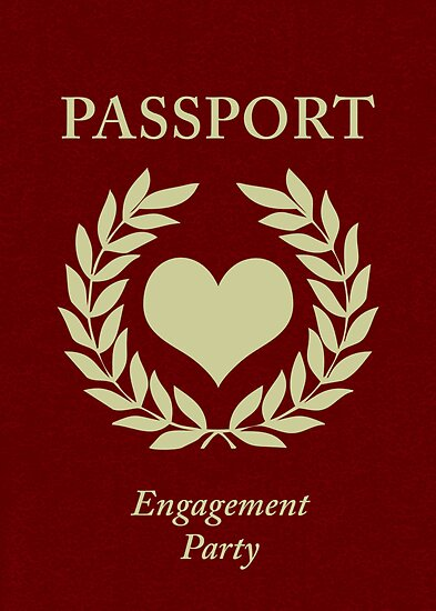engagement party passport by maydaze