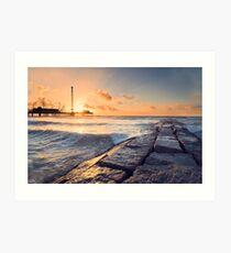 Galveston Beach Sunrise Art Print