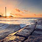 Galveston Beach Sunrise by RayDevlin