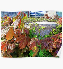 The Floral Tree Stump Poster