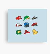 Game Hats Canvas Print