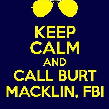 Keep Calm and call Burt Macklin, FBI by slitheenplanet