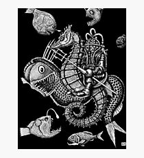 Poseidon ink pen surreal drawing Photographic Print