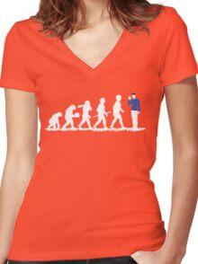 Evolution Spock! Women's Fitted V-Neck T-Shirt