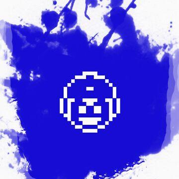 Blue Bomber (Mega Man/Rockman) Grafitti by CoinLoser