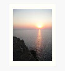Sunset in Lefkada Art Print
