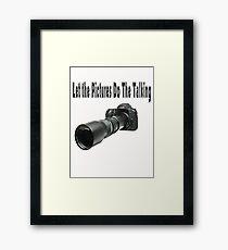 ♂ ♀ ∞ ☆ ★ PHOTOGRAPHERS APPAREL-Camera  With Telephoto Lense T-Shirt-JOURNAL,PILLOWS,ECT. ♂ ♀ ∞ ☆ ★ Framed Print