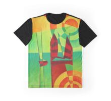 Chinese Junks On Still Waters Graphic T-Shirt
