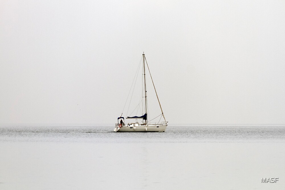 Ship on the fog by MASF