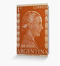 1952 Eva Peron Stamp Greeting Card