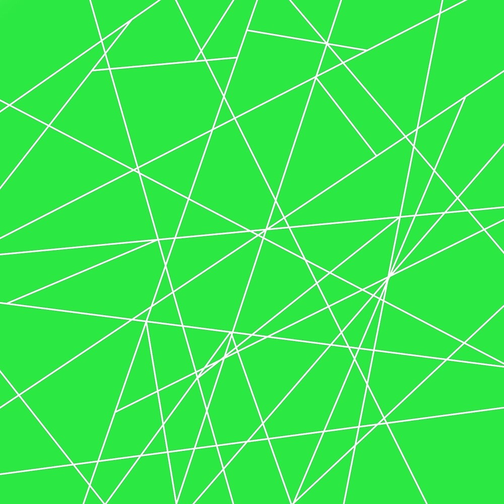 Abstract: Green & Lines by textured