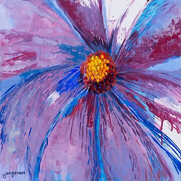 Mauve Floral by JBPoppyArt