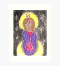 Diosa Maria del Corazon Sagrado  Art Print