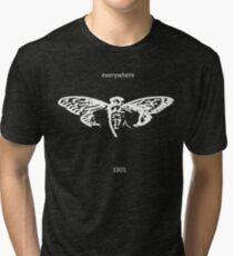 Cicada 3301 everywhere white Tri-blend T-Shirt