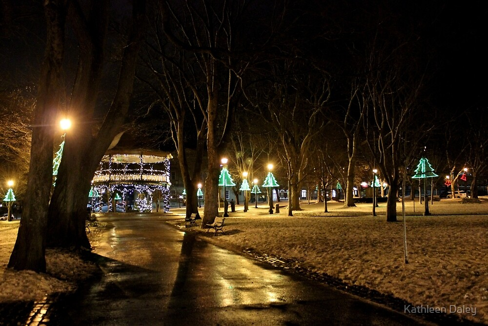 King Square at Christmas by Kathleen Daley