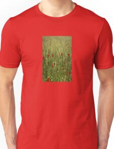 Red Poppies Growing In A Corn Field  T-Shirt