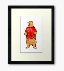 Poo The Bear Framed Print