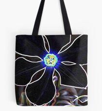 Glowing Poet's Daffodil in Neon  Tote Bag