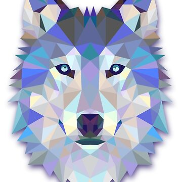 Triangle Wolf Design by juankdef