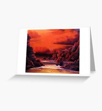 RED SKY SUNSET Greeting Card
