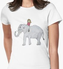 somewhere only you and I know Women's Fitted T-Shirt