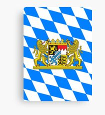 Bavaria COA Flag Canvas Print