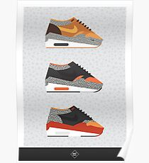 AM1 Safari-print trio Poster
