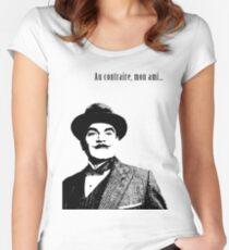 Hercule Poirot Tailliertes Rundhals-Shirt