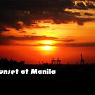 Sunset at Manila by Louis Delos Angeles