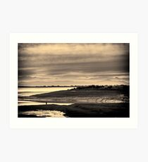 Landscape, Waterfoot, Solway firth, Lake district hills Art Print