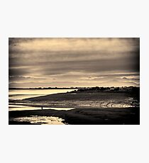 Landscape, Waterfoot, Solway firth, Lake district hills Photographic Print