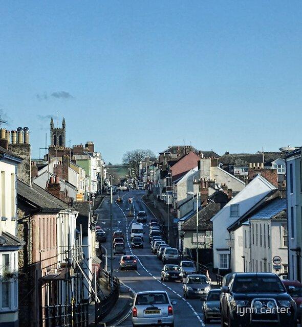 Driving Through Honiton . Devon, UK by lynn carter