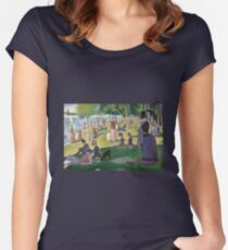 Mobile Seurat Women's Fitted Scoop T-Shirt