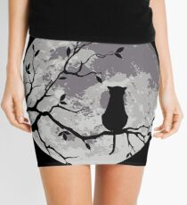 The Cat And The Moon Mini Skirt