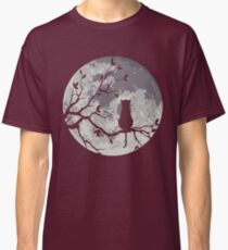 The Cat And The Moon Classic T-Shirt