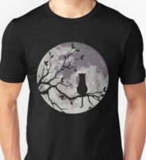 The Cat And The Moon Slim Fit T-Shirt