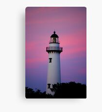 Lighthouse and Sunset Canvas Print