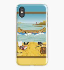 Phone case: Canoeing to Moonrise Kingdom iPhone Case