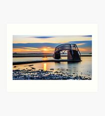 Sunset over the Bridge to Nowhere Art Print