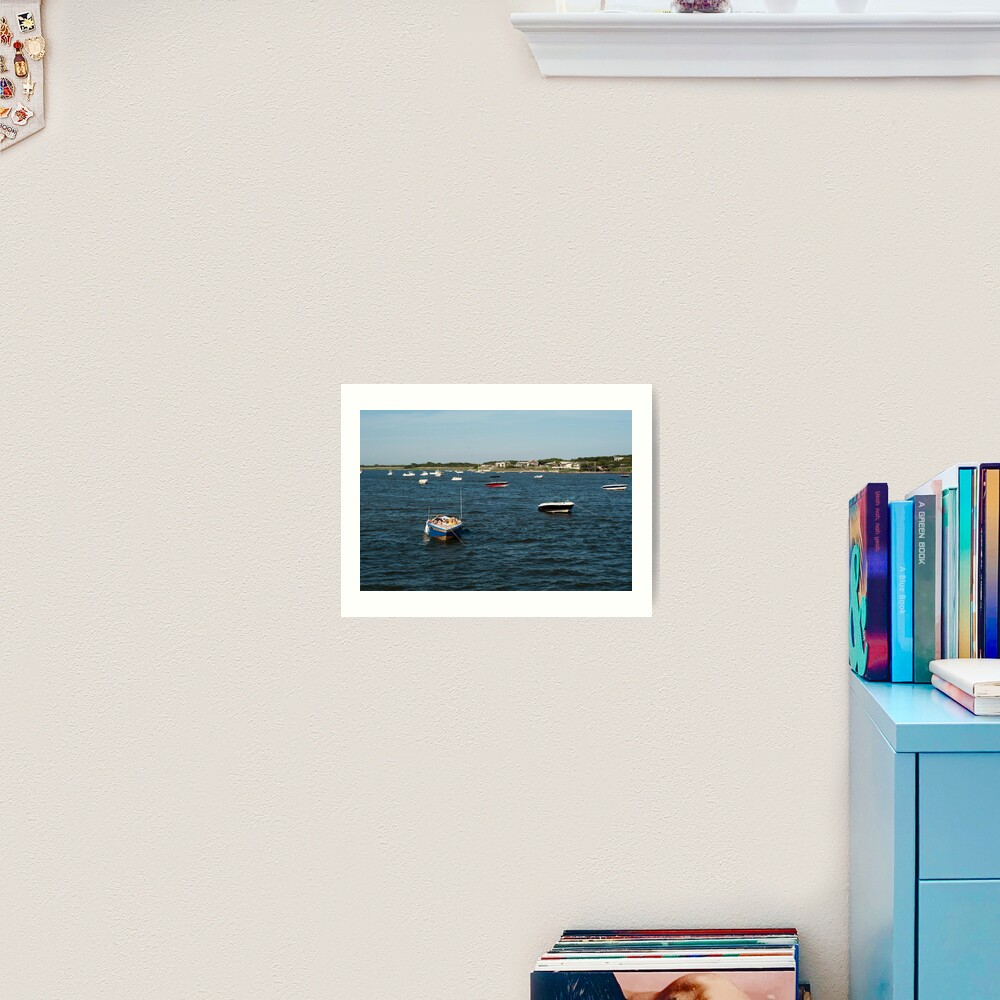 Couple Relaxing on Boat - Fire Island Art Print
