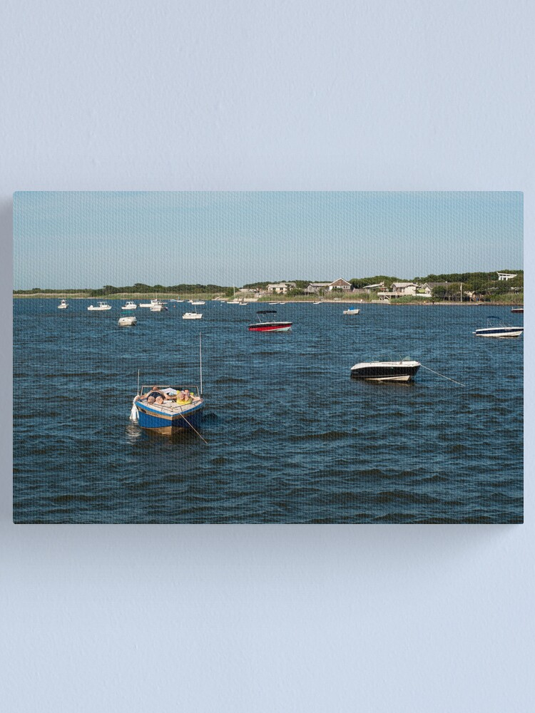 Alternate view of Couple Relaxing on Boat - Fire Island Canvas Print