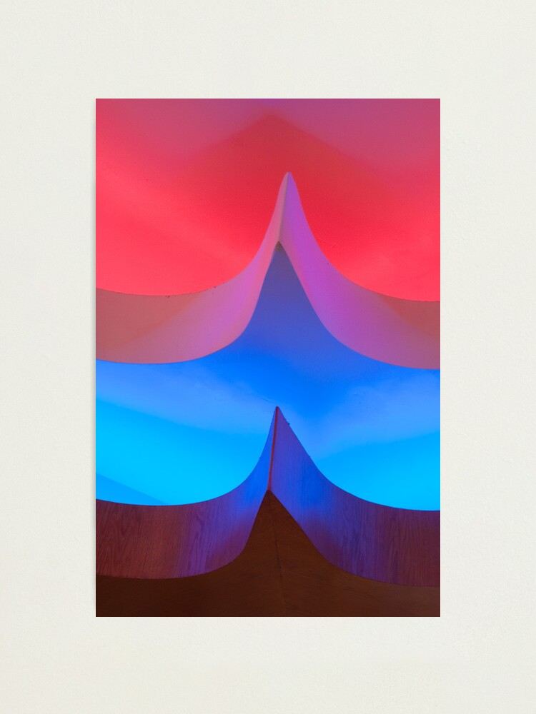 Alternate view of Red & Blue Lights Photographic Print