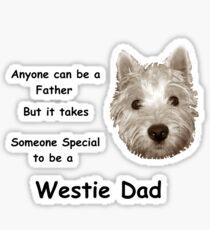 Westie dad Sticker