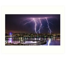 Storms over Geelong Waterfront Art Print