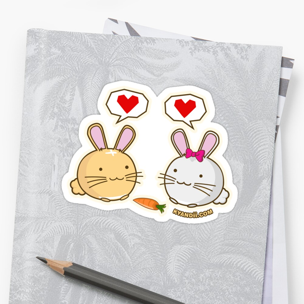 Fuzzballs Bunny Love Carrot by rabbitbunnies