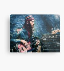 Portrait of Jaco Pastorius Metal Print