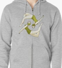 Retro Synchronised Swimmers Zipped Hoodie