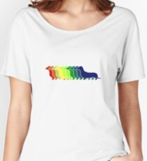 Dachshund Lovers - Rainbow Doxie Women's Relaxed Fit T-Shirt