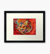 The Red on Red Framed Print