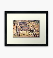 The Buckboard Bounce where West is West Vintage Framed Print
